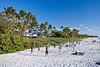 Beach volleyball on Naples Beach, Florida, USA.