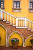 A decorative staircase at the Italy Pavilion at Epcot Center, Walt Disney World, Orlando, Florida, USA.