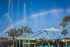 A rainbow and the Fountain of Nations at Epcot Center, Walt Disney World, Orlando, Florida, USA.