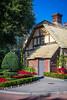 A thatched roof cottage at the United Kingdom Pavilion at Epcot Center, Walt Disney World, Orlando, Florida, USA.