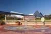 The glass pyramids of Imagination at Epcot Center, Walt Disney World, Orlando, Florida, USA.