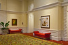 Interior hallways of the J.W, Marriott Resort in Orlando, Florida, USA.