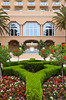An outdoor courtyard at the Ritz Carlton Resort in Orlando, Florida, USA.