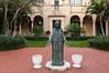 St Edward's Roman Catholic Church outdoor garden in West Palm Beach, Florida, USA.