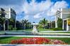 A shopping center outdoor gardens in West Palm Beach, Florida, USA.