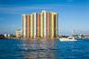A condominium complex on the intracoastal waterway near Palm Beach, Florida, USA.