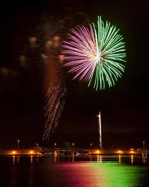 Fireworks over Grand Lagoon