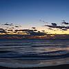 Panorama waves at dawn