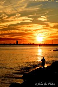 Man watching sunset.
