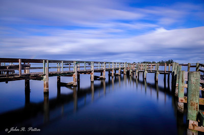 Docks in blue