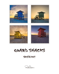 16x20 Print Siesta Key Life Guard Shacks