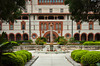 The entrance courtyard to the Flagler College in St. Augustine, Florida, USA.