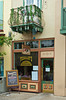 The Pizzalley's restaurant store front in St. Augustine, Florida, USA.