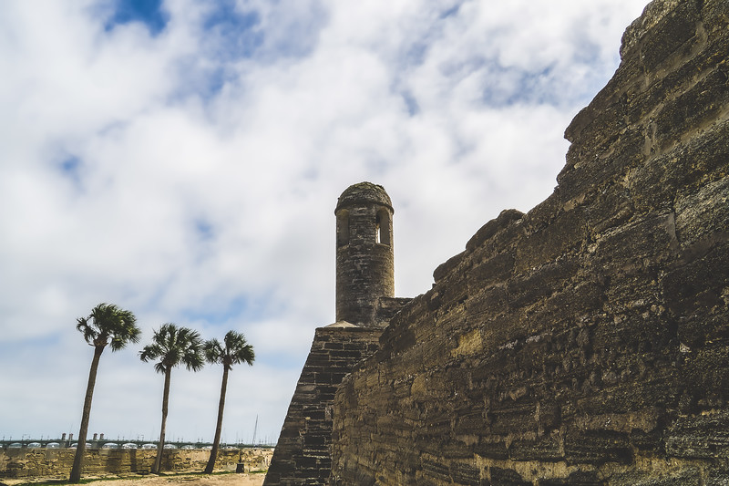 The Castillo de San Marcos National Monument in St. Augustine Florida