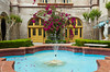A decorative fountain at City Hall, formerly the Alcazar Hotel in St. Augustine, Florida, USA.