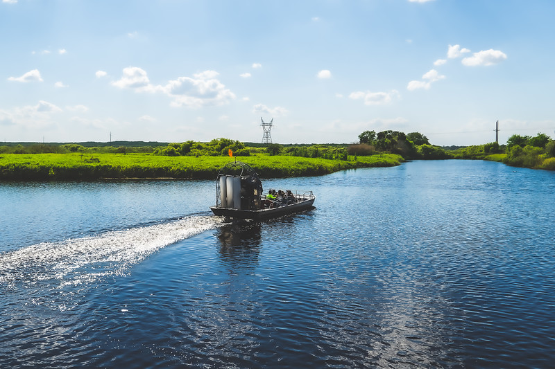 Air boat ride on the St. Johns River in Brevard County Florida