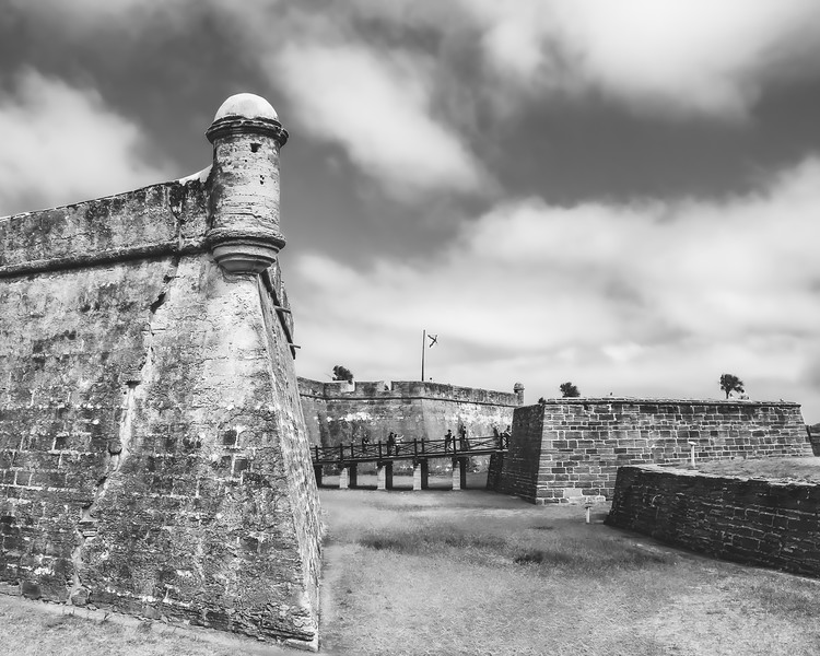 The Castillo de San Marcos National Monument in St. Augustine