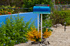 A Blue Dolphin and Ocean mailbox in the Florida Keys, USA.