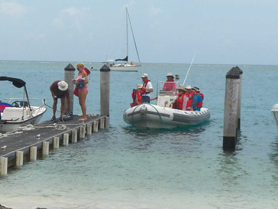 getting off the boat, Dry Tortugas National Park