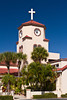 A church with Spanish architecture in Parksdale, Florida, USA.