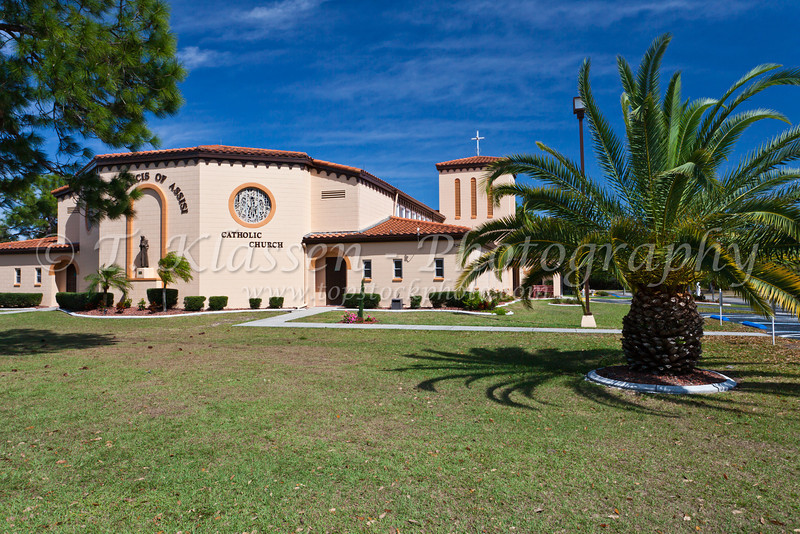 The St. Francis of Assissi Catholic Church in Englewood, Florida, USA.