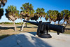 One of the cannon gun turrets at Fort Desoto Park, Florida, USA.