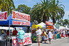 Food kiosks at the annual street art show in Venice, Florida, USA.