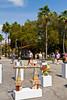The annual street art show in Venice, Florida, USA.