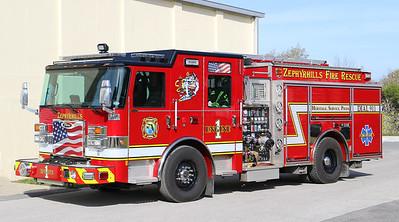 Engine 1.  2019 Pierce Saber.  1250 / 750 / 40F