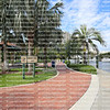 Smoker Family Park, a public park located south of the New River in Riverwalk Linear Park in downtown Fort Lauderdale.