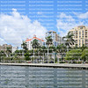 Skyline view of downtown West Palm Beach as seen from the Intracoastal Waterway.
