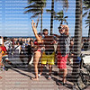 FORT LAUDERDALE, FLORIDA, USA:  College students on spring break strike a pose as their photo is taken on March 5, 2020.
