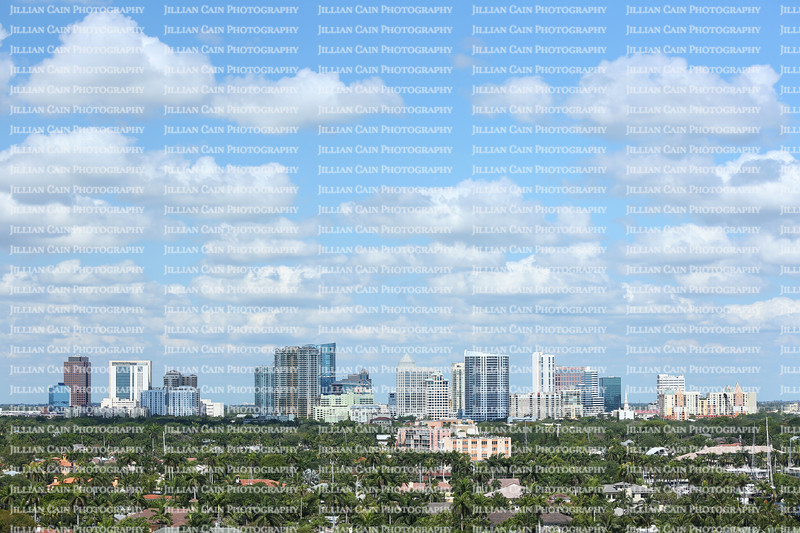 Aerial view of Fort Lauderdale's skyline and surrounding waterfront homes
