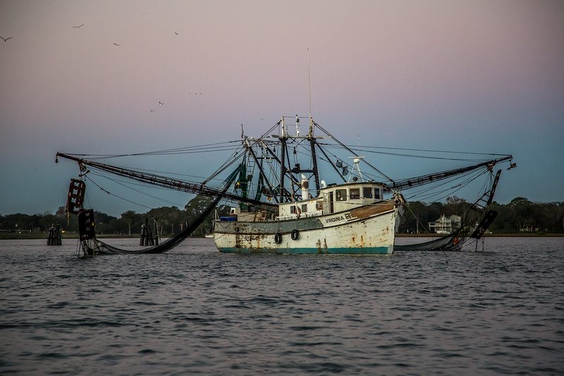 Old Virginia Shrimp Boat