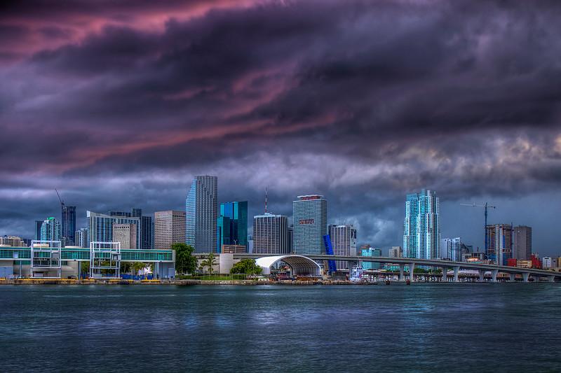 Storm Over Miami Harbor, Miami Florida