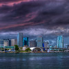 Storm Over Miami Harbor, Miami Florida