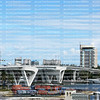 Aerial view of the 17th Street Causeway Bridge and the surrounding skyline in Fort Lauderdale, Florida, USA.