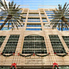 EDITORIAL USE ONLY:  Looking up at the Las Olas Centre office building located on Las Olas Boulevard decorated for the winter holiday.