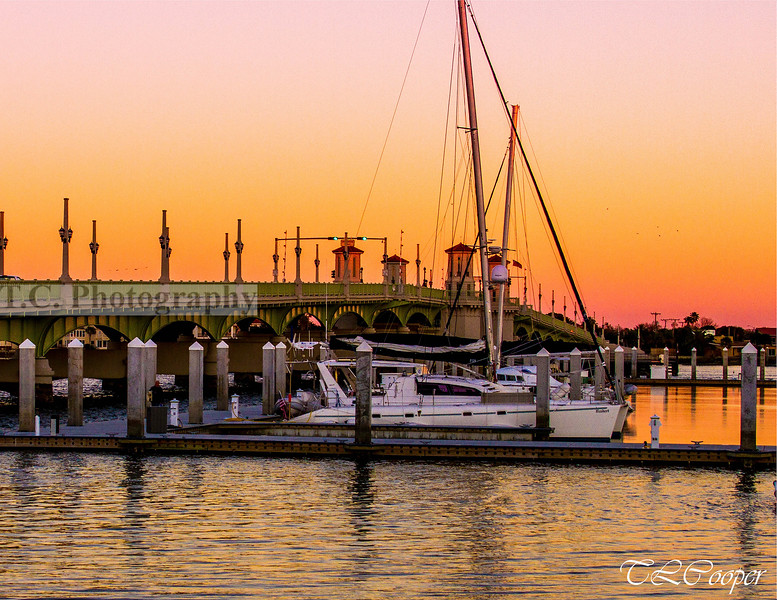Sunset at the Bridge of Lions, St Augustine, FL