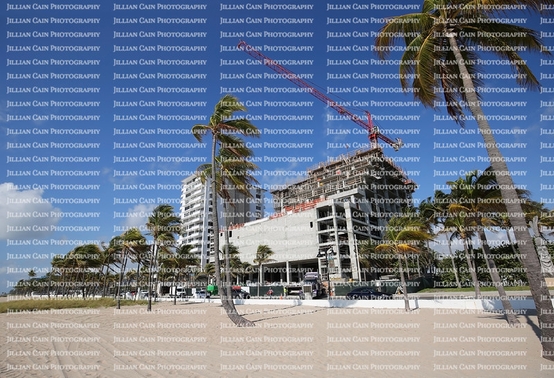 Building construction on Fort Lauderdale Beach, Florida