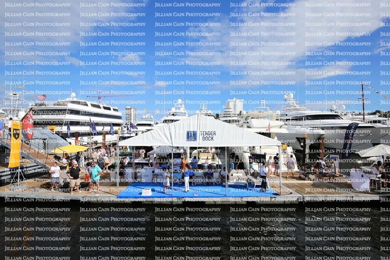 People enjoying the Fort Lauderdale International Boat Show.