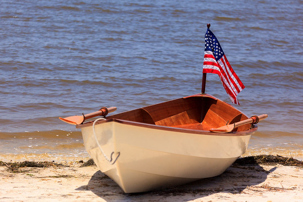 Patriotic dinghy
