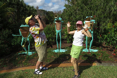 Jazz frogs and friends, Ribbit Exhibit at Mounts Botanical Gardens