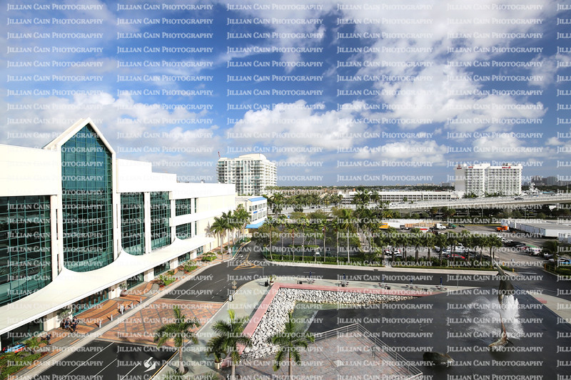 Aerial view of the Broward County Convention Center
