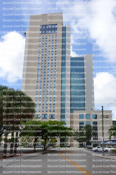 EDITORIAL USE ONLY:   The new Broward County Judicial Complex, Broward County's new courthouse closed in preparation for Hurricane Irma .