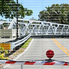 11th Avenue Swing Bridge opens up and swings out of the way to let boats by in downtown Fort Lauderdale, Florida.