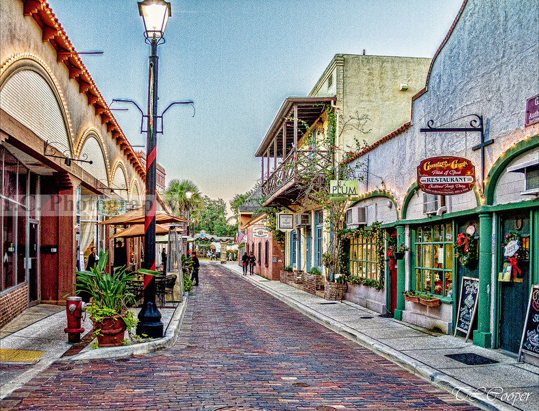 Aviles Street in St Augustine, FL