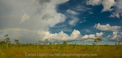 Double Rainbow Sky Pano, Everglades