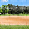 Clay baseball field at a local park in Fort Lauderdale, Florida, USA.