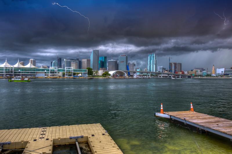 Storm Over Brickell Key, Miami